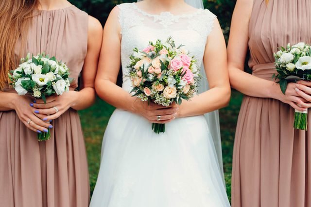 Don't Miss These Gold And Champagne Bridesmaid Dresses