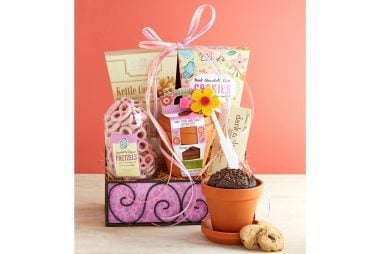 Mothers day gifts give mom something shell love readers digest this planted with love gift basket comes with cookies sweets and treats from fannie may negle Choice Image