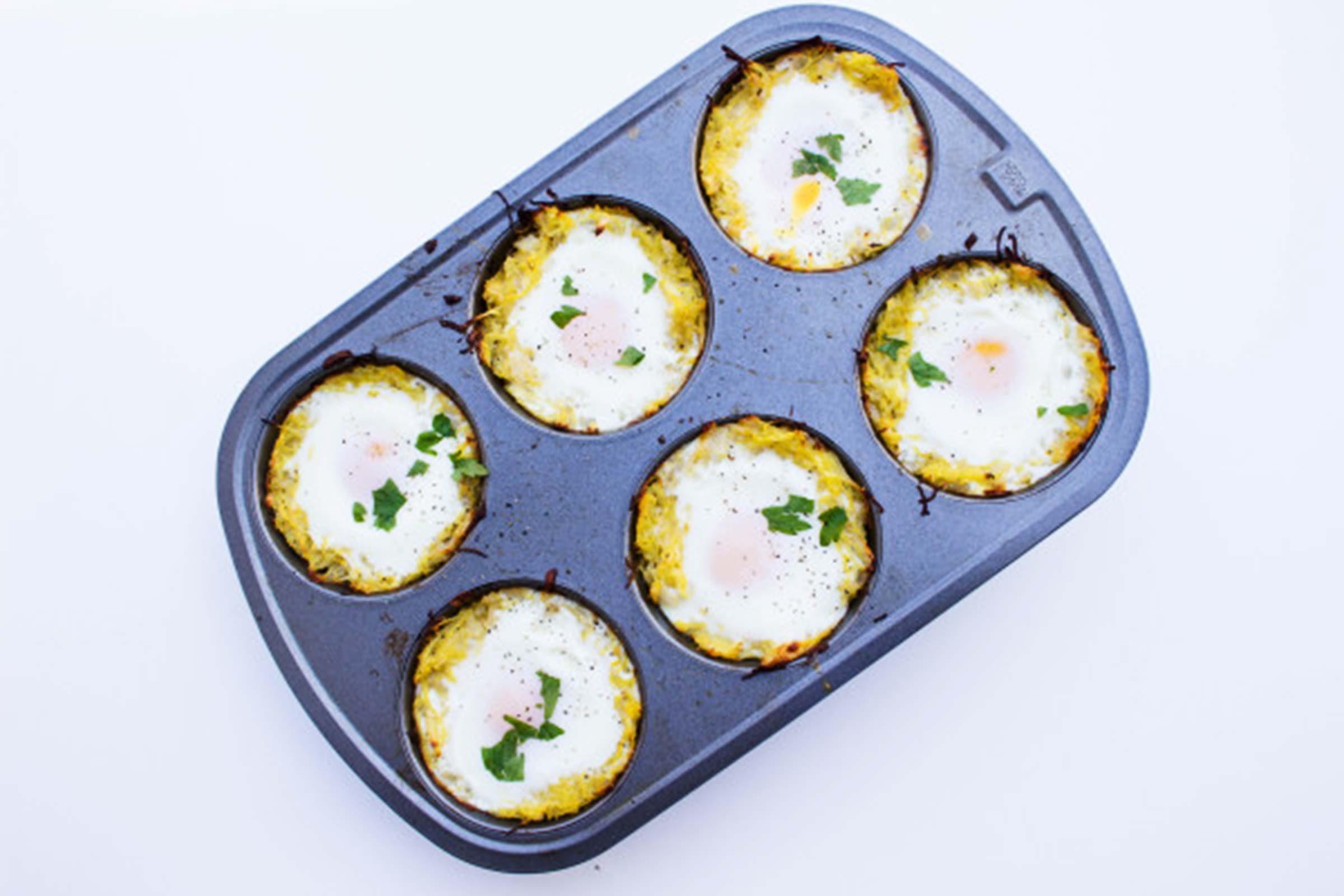 Spaghetti-Squash-Egg-Nests