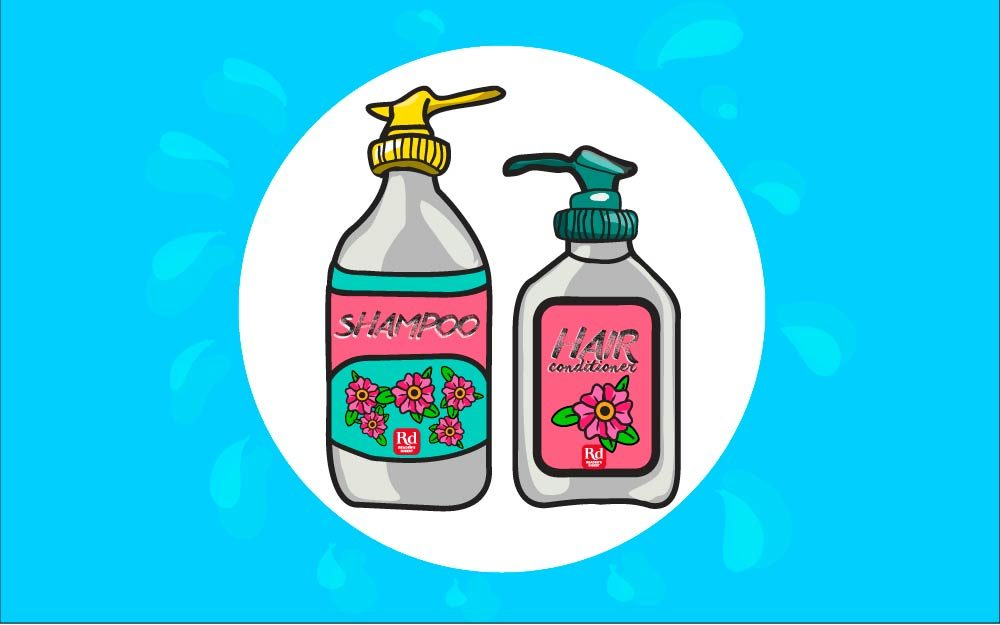 Image result for shampoo and conditioner illustration