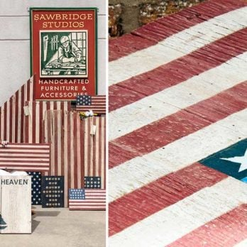 This Illinois Woman Turns Broken-Down Barns Into Beautiful American Flags