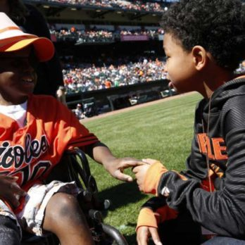 Orioles Honor Two Extraordinary Young Boys—One Fighting Cancer for the Third Time, Another Helping Cancer Patients