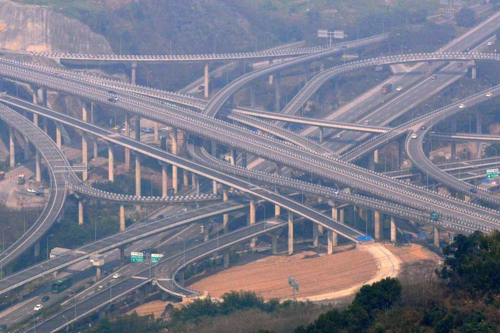 china overpass this is one of the world s most complicated