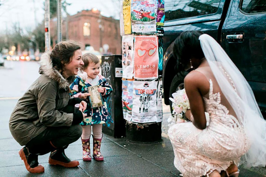 03-This-Little-Girl-Thought-This-Bride-Was-a-Princess,-and-Her-Reaction-is-Precious-Courtesy-stephanie-cristalli-photography