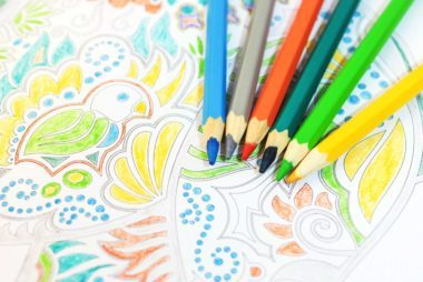 Color In An Adult Coloring Book