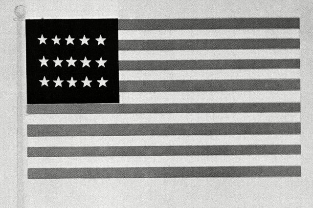 In 1775 the new American fleet first flew the Grand Union Flag, which consisted of 15 stars and stripes. Until then, the British flag was used most in the English colonies until the start of the Revolutionary War in 1775