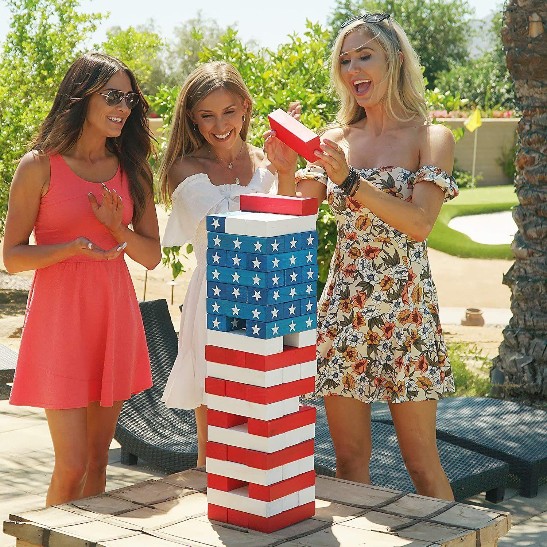 USA Jenga for fourth of July