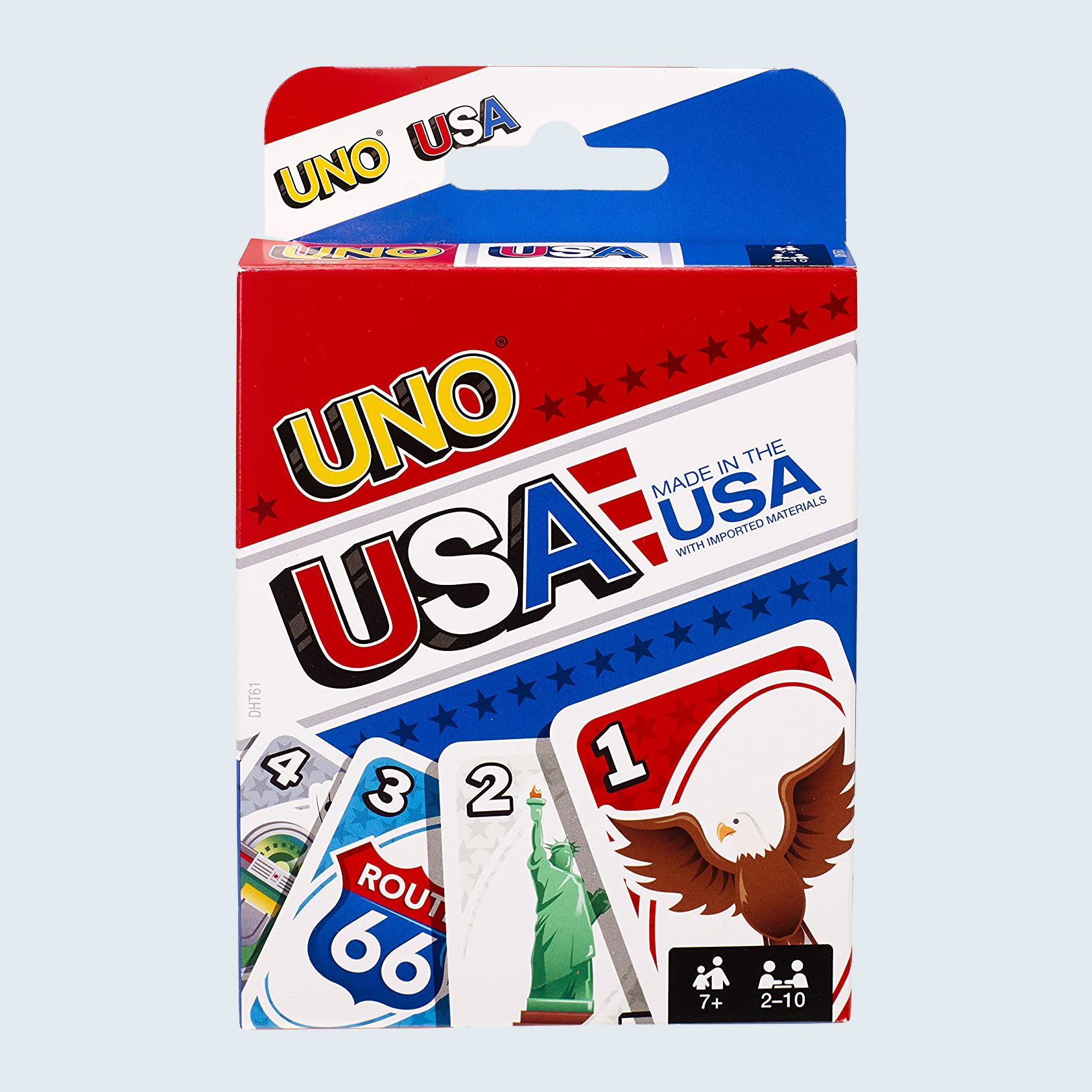 USA UNO card game for fourth of July