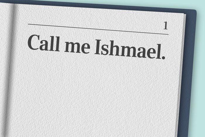 """Call me Ishmael."""