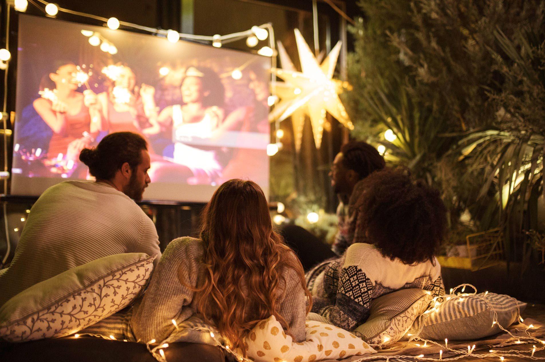 Movie night at back yard