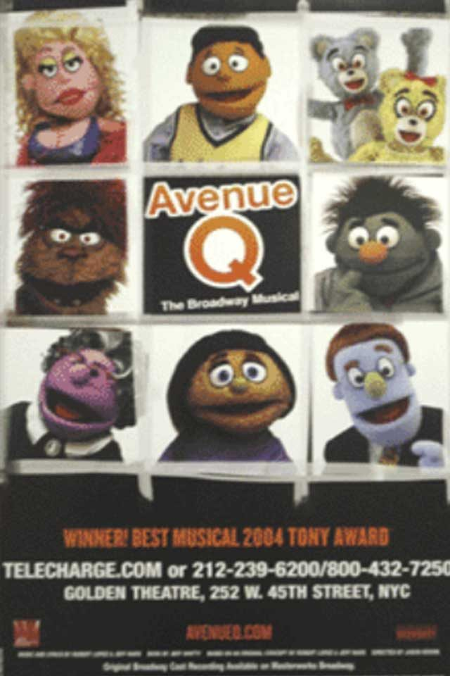 04-avenue-q-Hidden Lessons from Our Favorite Broadway Shows-via broadwayposters.com
