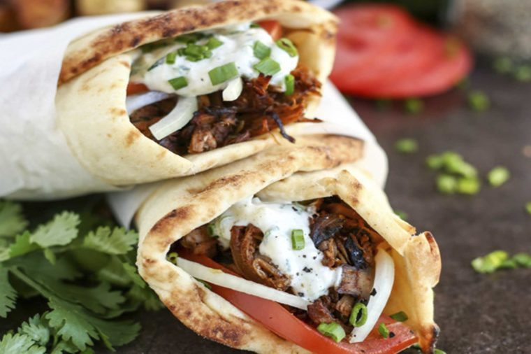 Delicious Dishes You Didn't Know You Could Make with Jackfruit07-Vegan-Jackfruit-Mushroom-Gyros-Courtesy-I-Love-Vegan