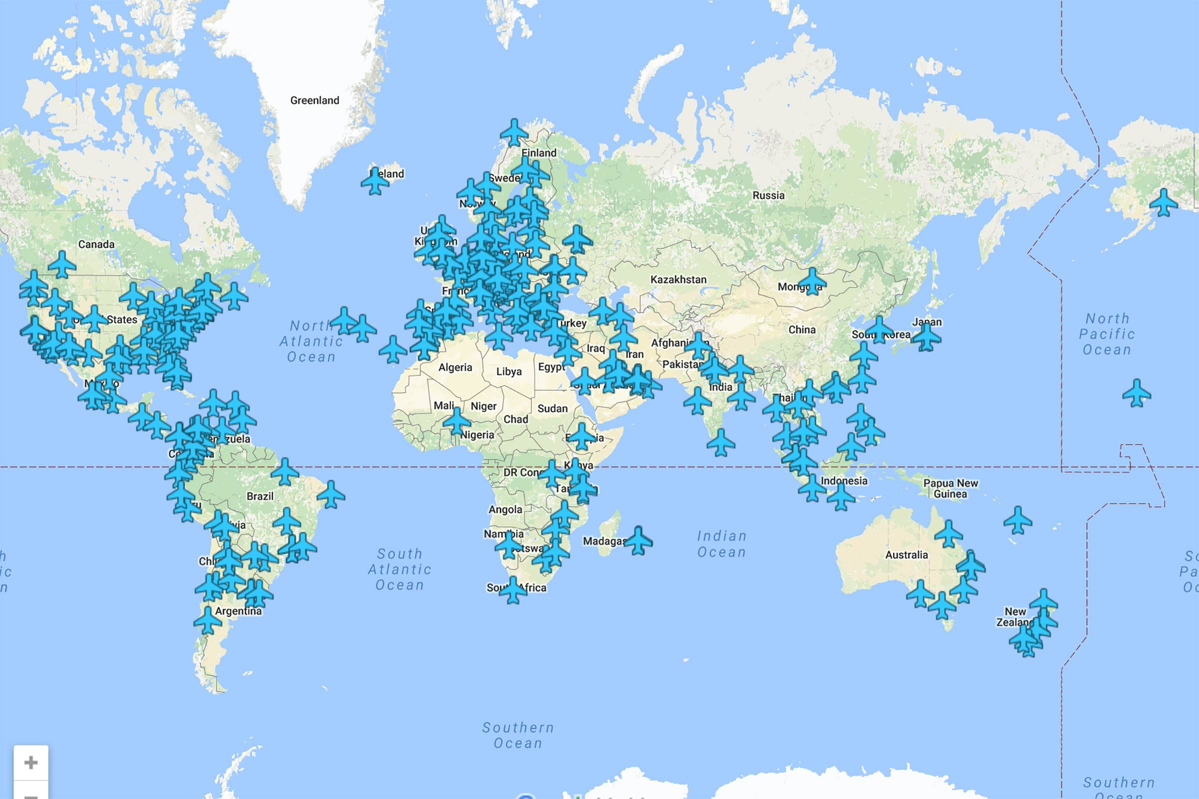 Here\'s a Map With Airport Wifi Passwords all Over the World ...
