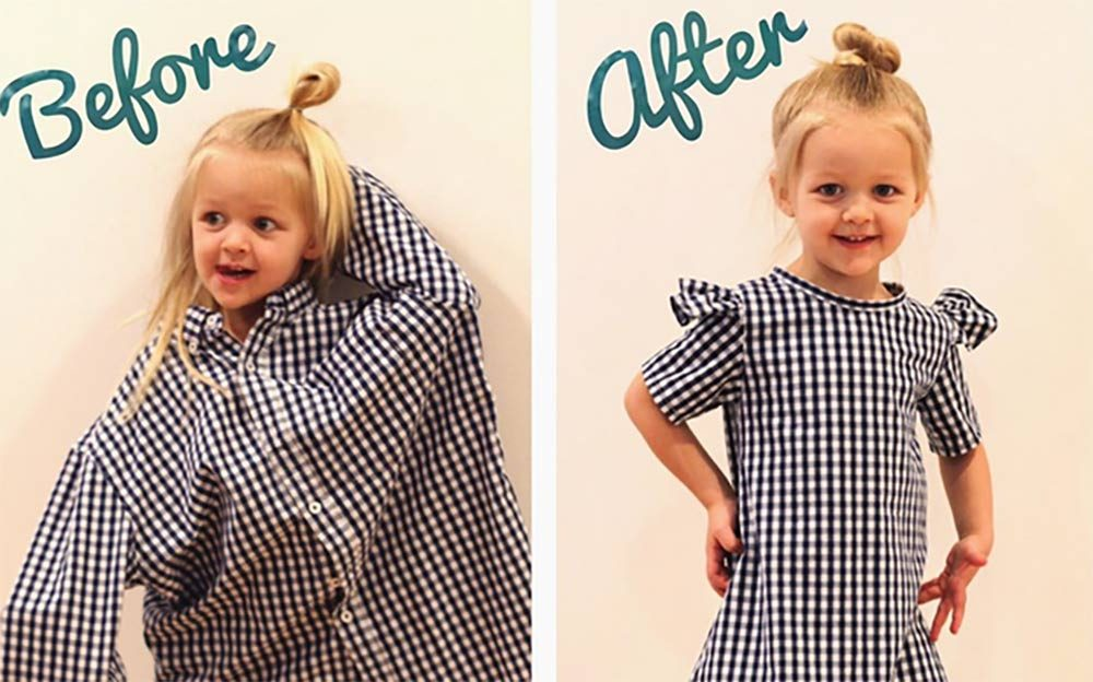 This-Mom-Turns-Her-Husband's-Old-Shirts-Into-Adorable-Outfits-for-Her-Daughters-courtesy-@mothermakesx4
