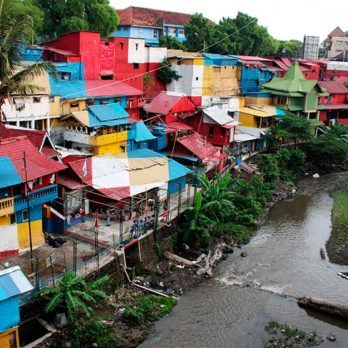 This Rainbow-Colored Town In Indonesia Is Almost Too Stunning to Be Real