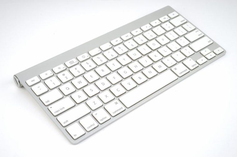 Computer keyboard isolated on white background