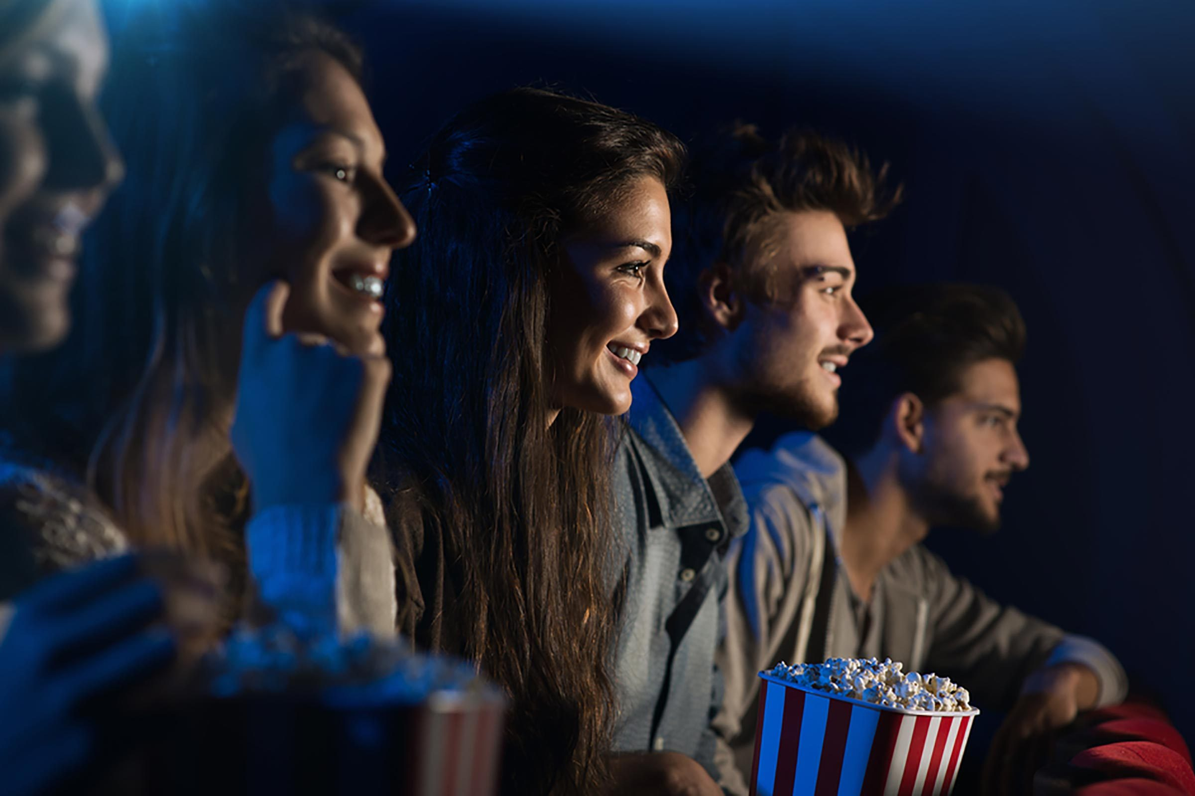 people viewing a theater performance