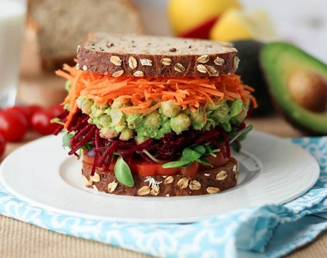 What do vegans eat 12 recipes to try this week readers digest canadian dietitian abbey sharp has just the lunch for you this chicken salad inspired vegan sandwich combines smashed avocado for the creamy texture forumfinder Gallery