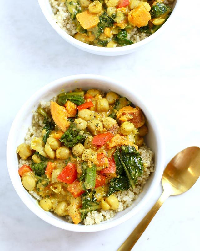 What do vegans eat 12 recipes to try this week readers digest courtesy whitney englishdietitian whitney english modified a rich curry dish into a plant based dinner believe it or not it comes together in less than 30 forumfinder Choice Image