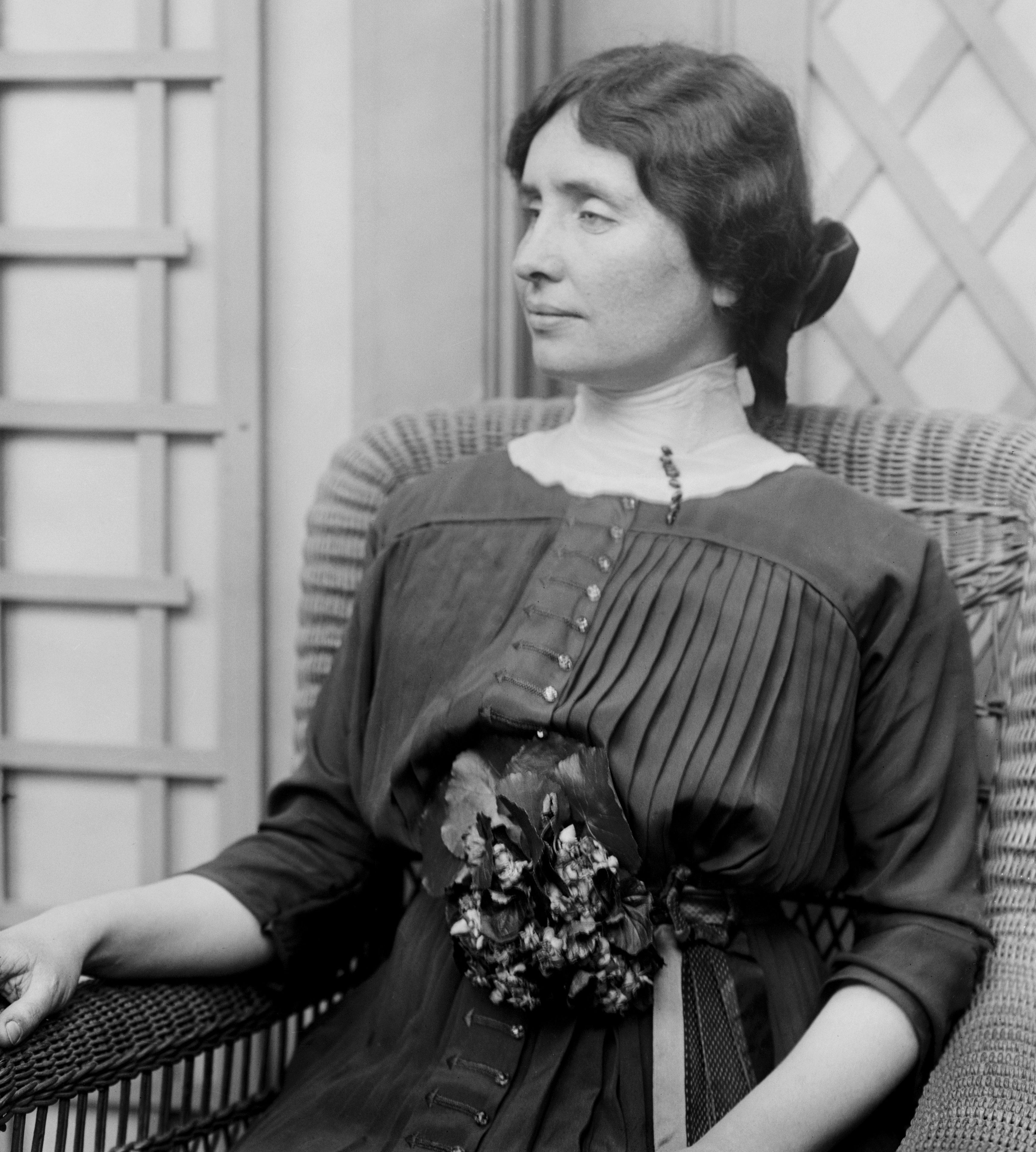 Mandatory Credit: Photo by Glasshouse Images/Shutterstock (5794154a) Helen Keller, Portrait, Bain News Service, circa 1913 VARIOUS