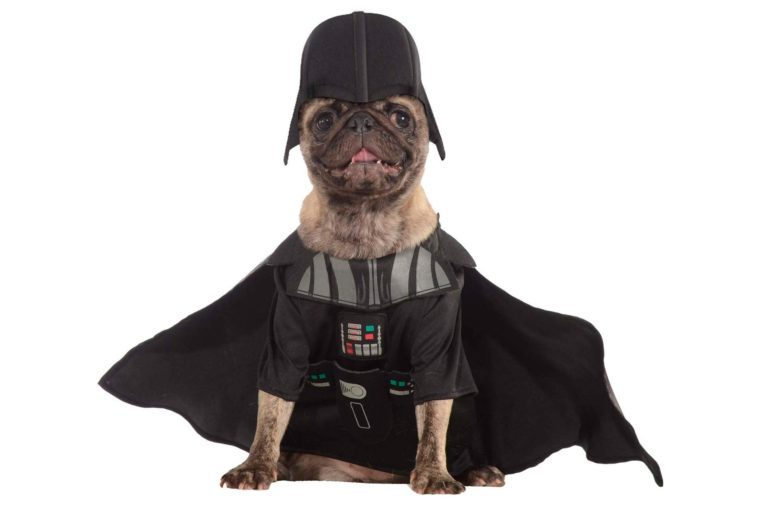 darth vadar dog costume