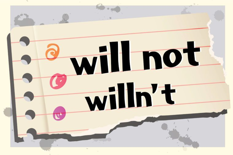 here s why the contraction for will not isn t willn t reader s