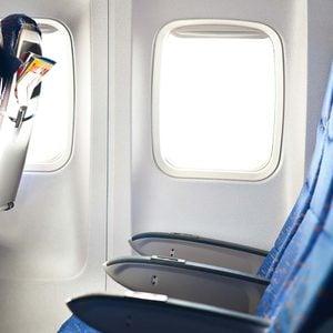 row of airplane seats