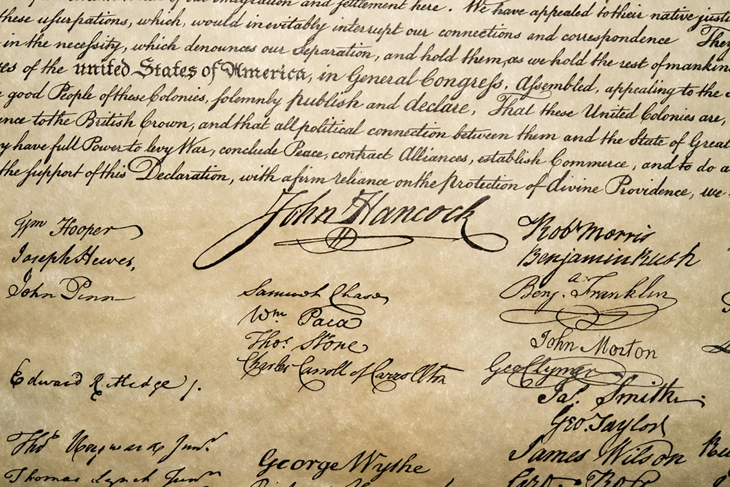 "the declaration of independence and the ""the declaration of independence[is the] declaratory charter of our rights, and of the rights of man"" — thomas jefferson, 1819 message from the director the declaration of independence and the constitution of the united states are the two most important, and enduring documents in our nation's history."