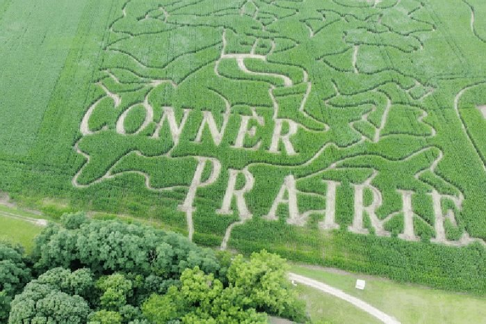 Aerial View Of Corn Maze Design