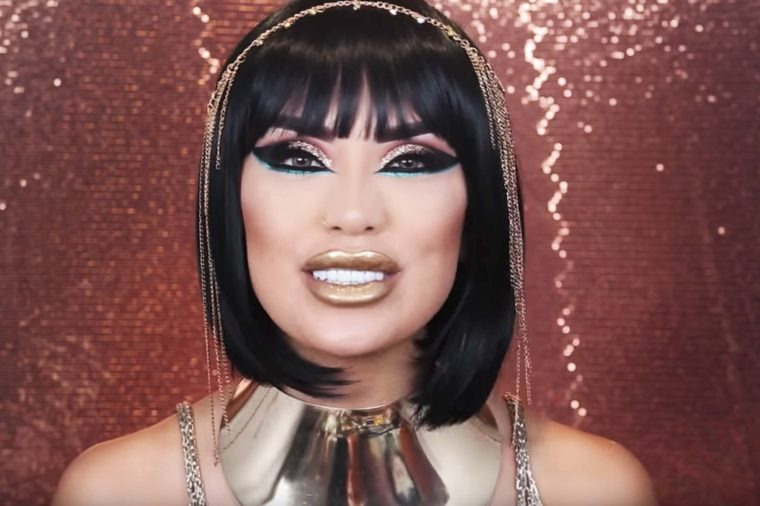 YOUTUBE IlovesarahiiIf You Have Gold Accessories And Dark Hair Dress Up As Cleopatra This Halloween Pair It With Makeup Look