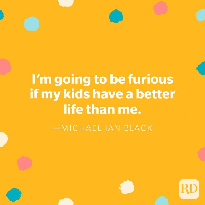 """""""I'm going to be furious if my kids have a better life than me."""" — Michael Ian Black, on behalf of every dad who hasn't slept in years"""