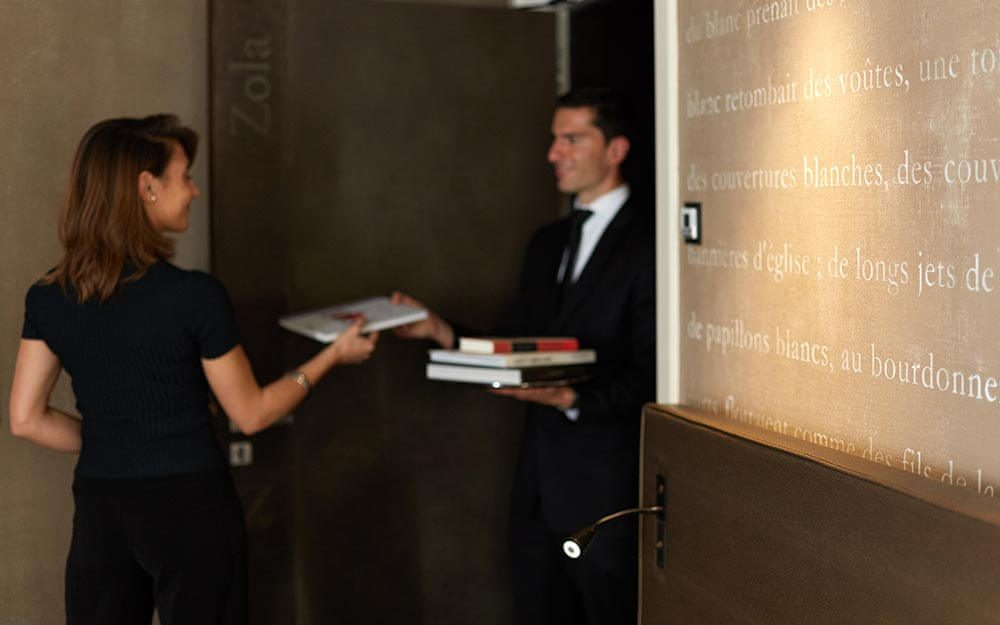 At This Hotel, You Can Order Books Through Room Service
