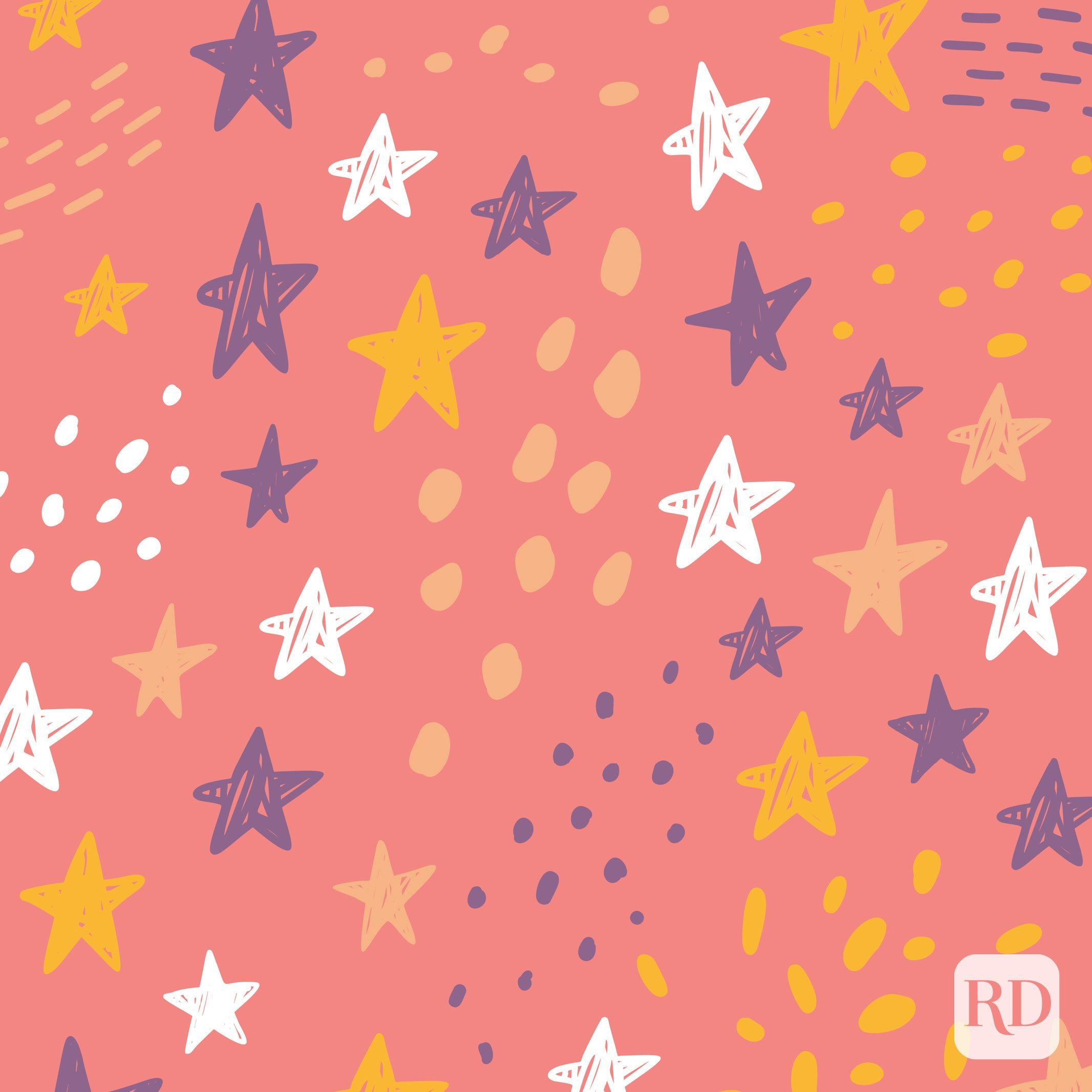 Illustration of stars and dots