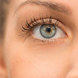 woman eye close up