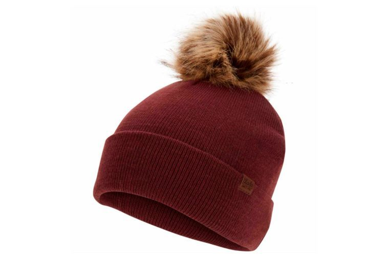 keds beanie red with tan pouf