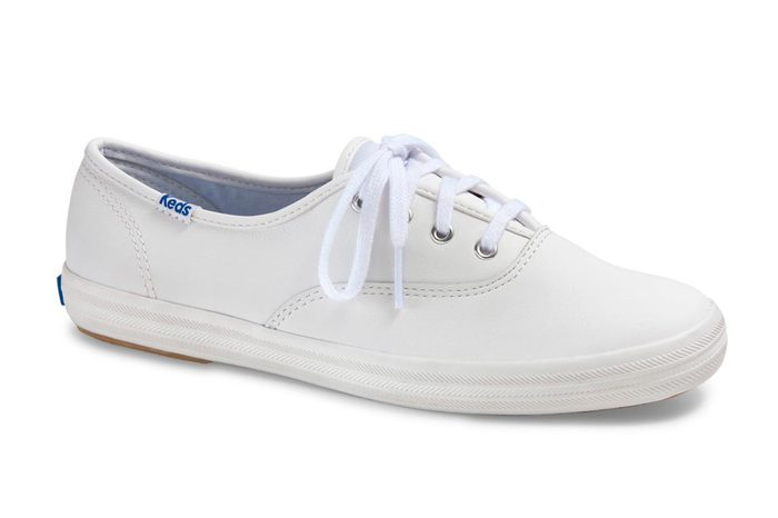 keds champion leather lace up sneakers in white