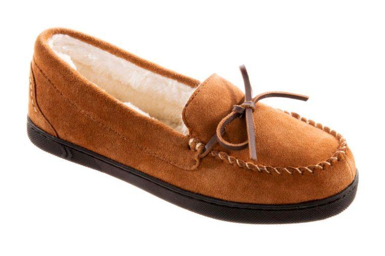 suede moccasin slipper