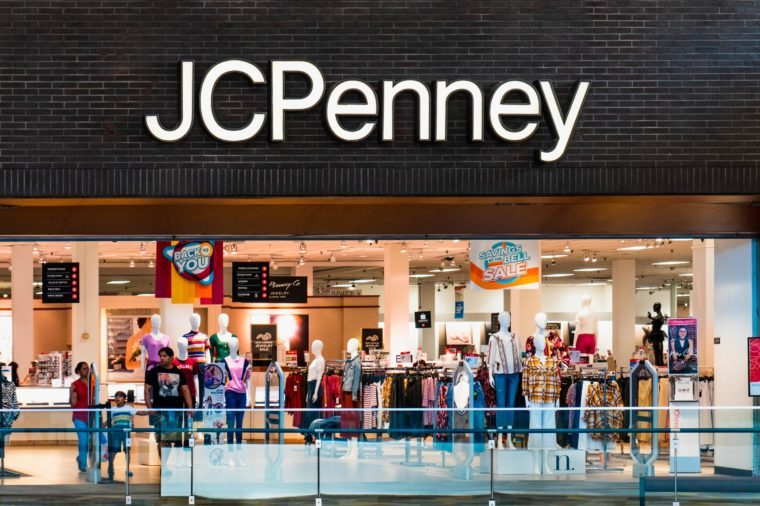 August 14, 2019 San Jose / CA / USA - People shopping at JCPenney department store located in a mall in South San Francisco bay area