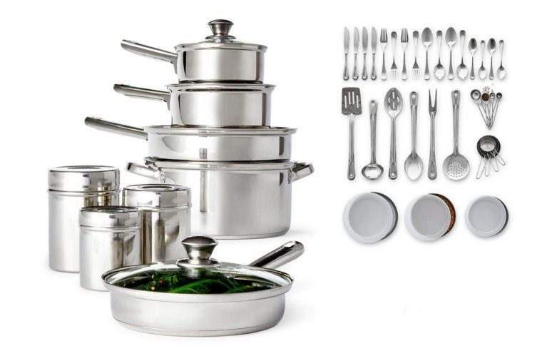 52-piece stainless steel cookware set