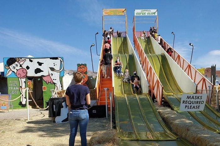 slide at Richardson Adventure Farm, Spring Grove, Illinois