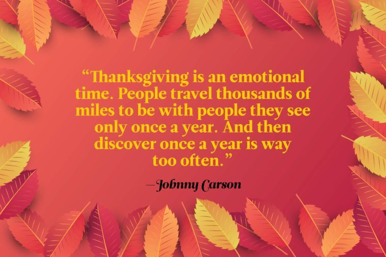 Funny Thanksgiving Quotes to at the Table