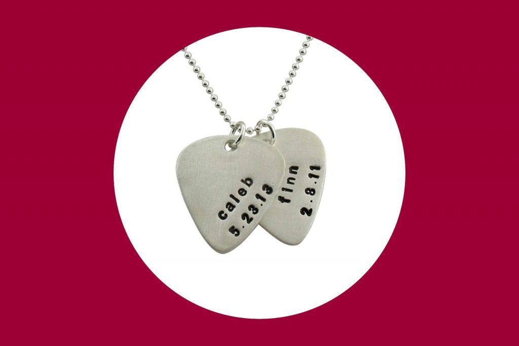 custom guitar pick necklace