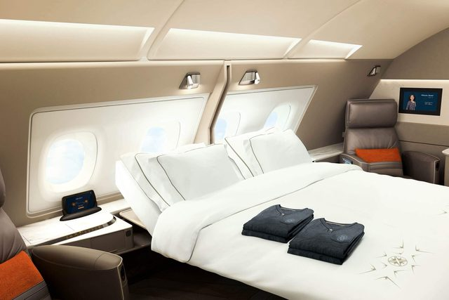 airplane hotel room bed