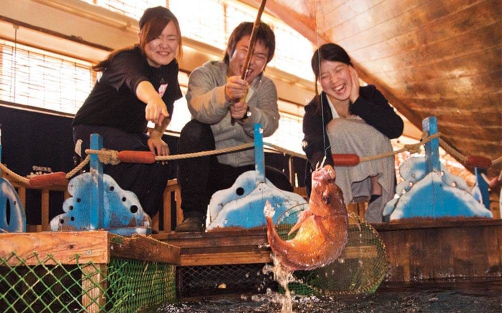 Zauo the restaurant that lets you catch your own fish for Guests and fish