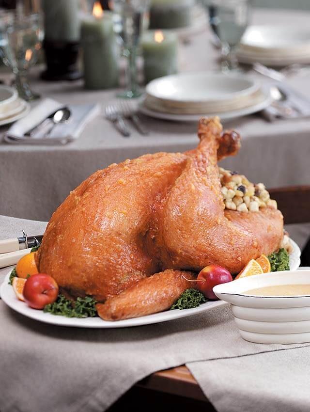 fruit glazed turkey