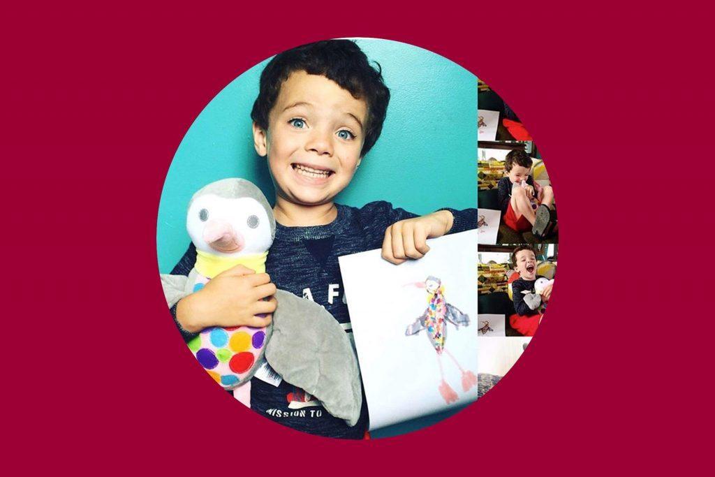 boy with stuffed toy
