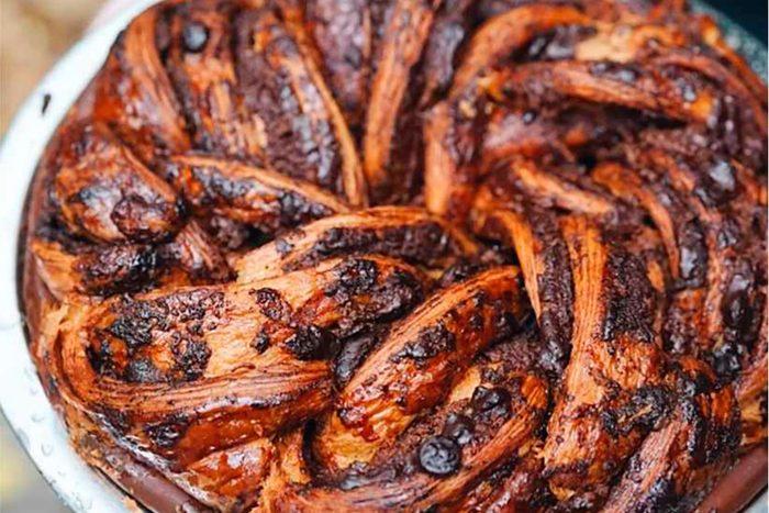 Chocolate babka pie