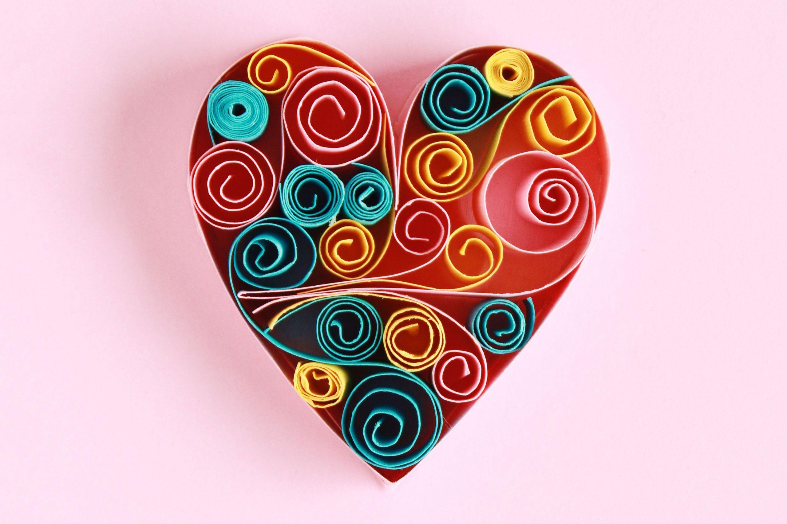 handmade paper quilling heart