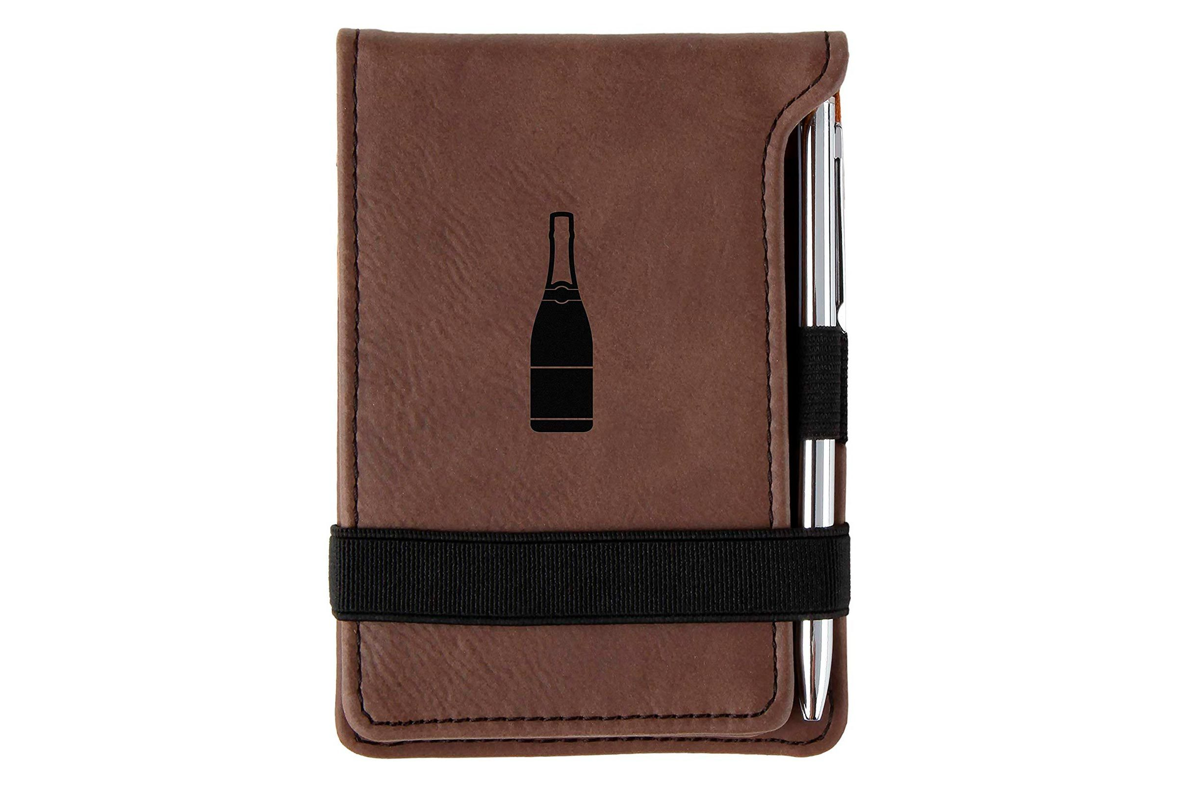 Leather personalized mini notepad