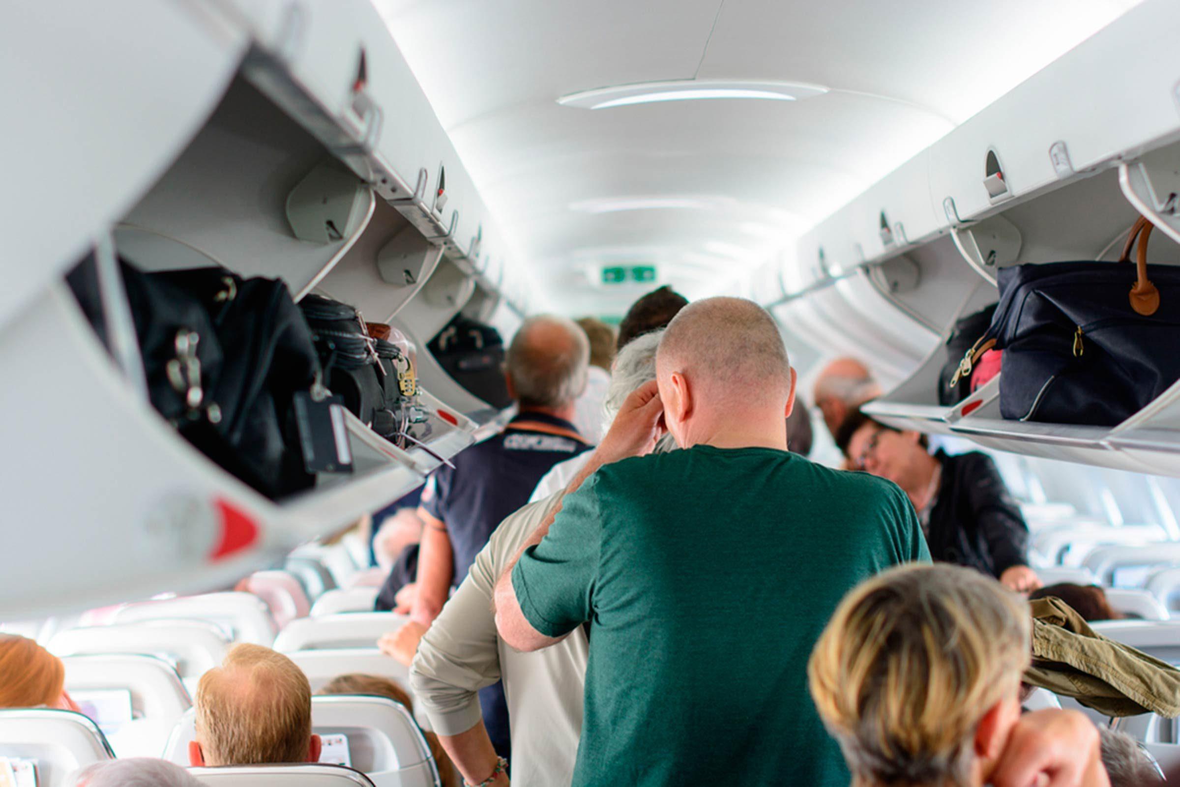 leaving plane